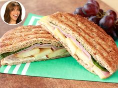 Recipe: Hungry Girl's Healthy Apple and Cheese Panini Panini Recipes, Ww Recipes, Cooking Recipes, Healthy Recipes, Skinny Girl Recipes, Hungry Girl Recipes, Soup And Sandwich, Apple Sandwich, Recipe Girl