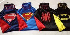1 SUPERHERO Cape and Mask Superman  Batman  Hulk  Spiderman Ironman Captain America superhero you decide  great Birthday Party Gifts via Etsy