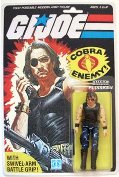 Custom Snake Plissken GI Joe action figure - WANT! Although this brings up a good geeky argument - In the long run, do you think he would have been a Cobra agent or a Joe?  Tough call, honestly...