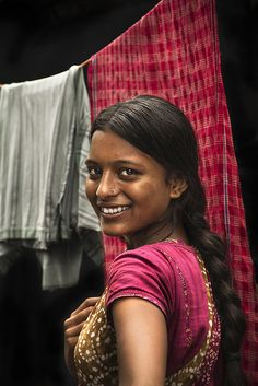 hymns-for-the-hopeless:    What a smile, such beauty.  vidyaksha-education:    @ Ajay Nagar Slum - Kolkatta by Arun Titan on Flickr.