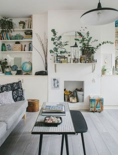 beautiful white walls with decorative plants