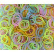 Glow In The Dark Colored 600 Count Loom Bandz + 3 Free Assorted Charms & A Bonus Rhinestone Charm!!!, 2015 Amazon Top Rated Shaped Rubber Wristbands #Toy
