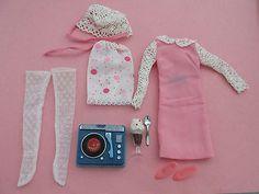 """Vintage Barbie: Francie """"Dance Party"""" #1257 Complete Ensemble 1960's Japan MINT"""