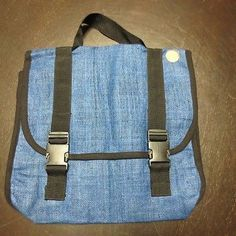 Unbranded Tablet Carrier / Hand Bag With Flap Closure Blue