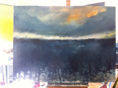 Huile sur toile  - 130/97cm  -     Gabriella Moussette
