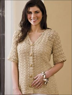 Crochet - Crochet Clothing - Cardigan Patterns - Cockleshells Cardi