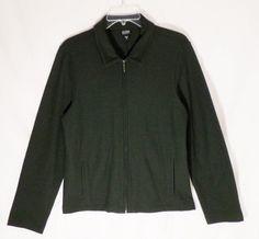 EILEEN FISHER, Women's Full Zip, Lightweight Shirt, Wool, Green, Size S Small #EileenFisher #Blazer