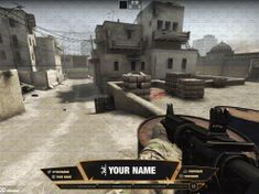 Twitch TV stream overlay counterstrike (csgo) overlay fiery hot from twitch-overlay.com