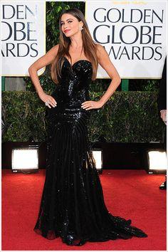 Sofia Vergara @ 2013 Golden Globes Photos – Makeup, Dress, Hair