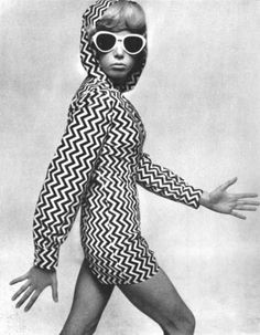 Pattie Boyd and an awesome chevron jacket