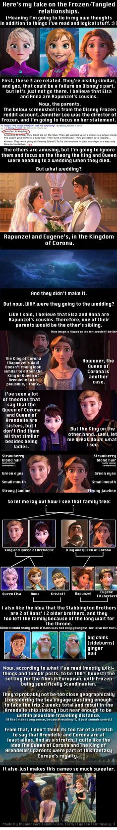OMG I love these theories: Tangled and Frozen together! :) idk if it's true but it's still a good laugh!