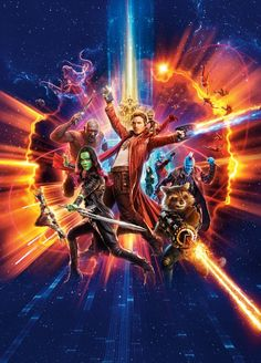 High-Res Guardians of the Galaxy 2 Textless Poster - Cosmic Book News