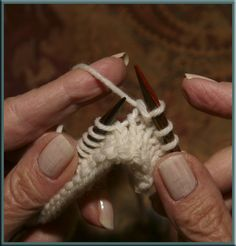 Continental Knitting or Left Handed Knitting Instructions - both knit and purl stitch. How to hold the yarn.