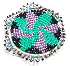 native american indian individually hand beaded hair tie