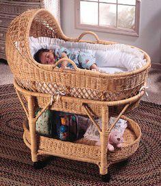Image detail for -Baby Furniture & Bedding White Wicker Designer Bassinet Baby Bassinet, Baby Cribs, Wicker Furniture, Baby Furniture, Baby Baskets, Moses Basket, White Wicker, Baby Center, Baby Room Decor