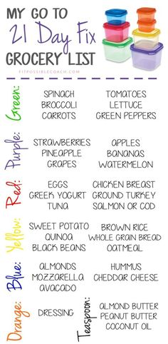 21 DAY FIX GROCERY L