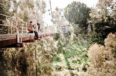 Suspension Bridge san diego - good location for engagement shoot
