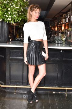 Jessica Hart in Tabitha Simmons shoes