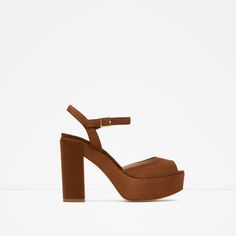 ZARA - PROMOCIJA - LEATHER PLATFORM SANDALS
