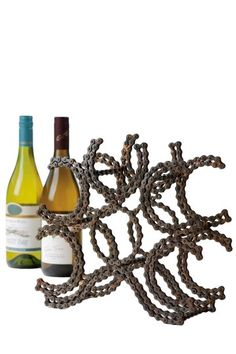 bike chain wine rack!!