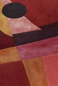 DAHLIA hand tufted rug (detail) - DAHLIA is inspired by the colors of the wild and delicate flower, and also inspired by modern archi - Hand Tufted Rugs, Plum Purple, Abstract Pattern, Dahlia, Modern Architecture, Color Schemes, Functionalism, Delicate, Inspired