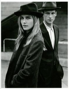 obsessed with these old fashioned looking hats. male and female, love them both!