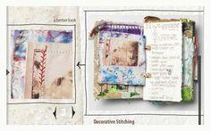 Use an art journal to inspire quilt designs