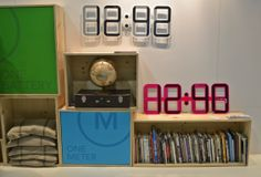 The Clock One by @twelve24clocks utilizes e-ink technology #dod2014 #dwellondesign
