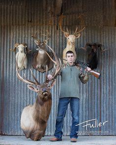 Fuller's Photography Studios Senior Pictures, Seniors, senior picture ideas, senior guy, black and white photography, southeast Texas photography, hunting, Guns, guys with guns, senior boy, natural light, outdoor, deer, elk