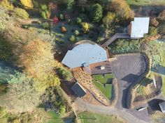 The incredible birds eye view of the Tree Top Escape with the fantastic autumn colours.