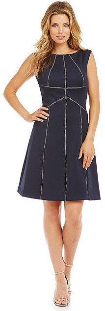 Calvin Klein Sleeveless Fit-and-Flare Dress Fit And Flare, Calvin Klein Dress, Head To Toe, Flare Dress, Dillards, Dresses For Work, Fitness, How To Wear, Beautiful