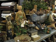 schneemanfolkart.com | Sharonrenningersgatherings.com Primitive, Handmade Santas,