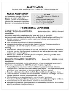 sample resume for nurse anesthetist healthcare news information and career advice