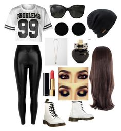 """Untitled #12"" by mfgsoccer on Polyvore featuring River Island, Dr. Martens, Chanel, Coal, AeraVida, Isabel Marant, Aéropostale, blackandwhite, Ghetto and 99problems"