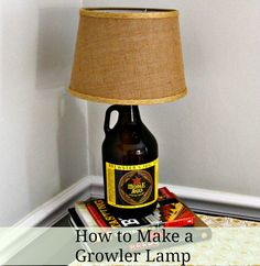 How to Make a Growler Lamp. Perfect for a man cave and easy.