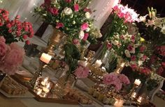 Buffet, Table Decorations, Furniture, Home Decor, Pink Color Palettes, Hot Pink, Colors, Buffets, Interior Design