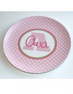 Personalized melamine plate - so cute!