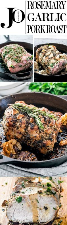 Succulent Rosemary Garlic Pork Roast that's perfect for a Sunday dinner or a special occasion, delicious and quick to prepare! Always a crowd pleaser!