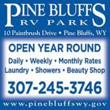 Pine Bluffs RV Park Tent Sites Available For 10 Per Night Laundry