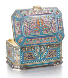 Stunning example of gilt/cloisonné walk. It's listed on Sotheby's for a lot of money lol. Love the design