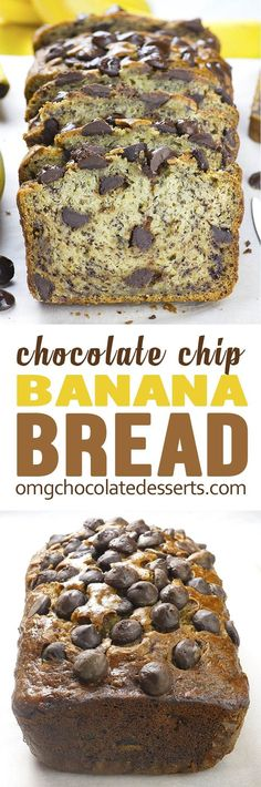 Chocolate Chip Banana Bread is simple, quick and easy recipe for super moist and flavorful homemade banana bread.