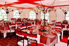 Decoracion boda en rojo