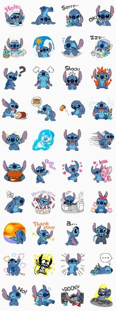 The mischievous little alien is here to play! Look, he's brought Scrump with him too♪ June 26 is Stitch Day - celebrate it which these super cute stickers!