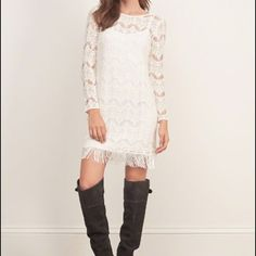 Lace Fringe Dress Flagship Exclusive. I do not trade. Abercrombie & Fitch Dresses
