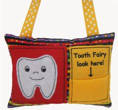 Pat Williams Embroidery Design: Tooth Fairy Pillow 4.76 inches H x 6.50 inches W
