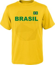 0d8ad06a6 Outerstuff Youth Brazil One Team Yellow T-Shirt