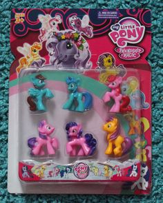 FAKE MY LITTLE PONY TOY - BLIND BAG-LIKE PONIES - MINT ON CARD - 9 PCS