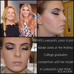 #HHSLiverpool's junior stylist Natalie Jones smashing it at the Andrew Collinge graduates competition with her model (sister) in Liverpool's Liner Hotel. Well done Natalie, we are so proud