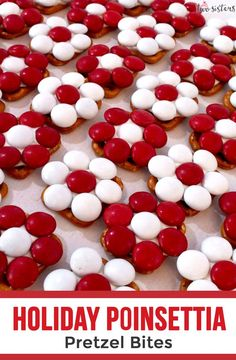 Holiday Poinsettia Pretzel Bites Looking for a fun and easy DIY Christmas Gift for a coworker, a tea Christmas Gifts For Coworkers, Easy Diy Christmas Gifts, Christmas Gift Baskets, Christmas Sweets, Christmas Goodies, Christmas Candy, Christmas Recipes, Christmas 2019, Christmas Ideas