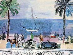 Raoul Dufy, Promenade a Nice, 1926